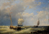 'Shipping off the Dutch Coast' by Abraham Hulk Senior