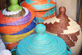 Market, crafts, baskets, colorful