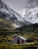 Shack in valley New Zealand
