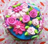 Flowery cake @ Casapinka