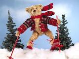Alpine-teddy-bear-snow-ski