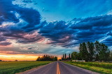 Road to a Chubbuck Sunset Idaho