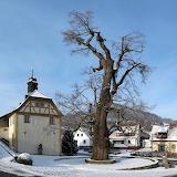 Duitsland-linde-winter-boom-enge-dorp-haselbach 121-62984