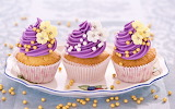 #Cupcakes with Purple Frosting