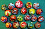 Swirly colorful marbles