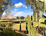 Rainbow in Desert Borrego Springs California USA