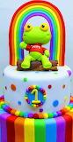 Rainbow cake by Violeta Glace