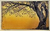 Art Deco Japanese style tree