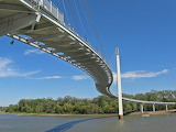 Pedestrian Bridge Over Missouri River Nebraska