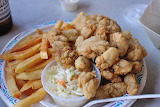 ^ Fried Oysters, slaw and fries