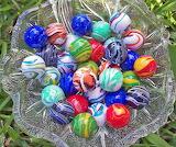 Bowl full of marbles