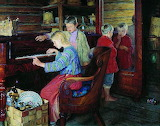 Nikolai Bogdanov-Belsky, Children at the piano, 1918