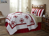 ^ Chili pepper red quilt