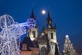 Praha, Christmas lights, cz