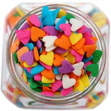 ^ Colorful heart sprinkles