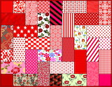 Quilt Rectangles - Red Tones