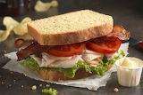 ^ Turkey, bacon, lettuce, tomato sandwich