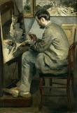 Auguste Renoir, Portrait de Frédéric Bazille, 1867