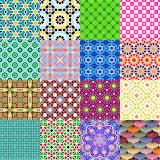 Repetitive Arabic Designs Collage