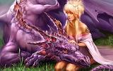 Fantasy Girl and Dragon