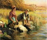 Knight-Daniel-Ridgway-Women-Washing-Clothes-by-a-Stream