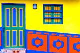 colorful house facade