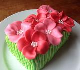 ^ Pink flower cake