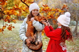 girls with fox pet