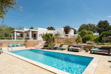 Luxury white finca and pool in Ibiza