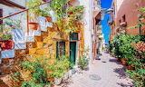 Crete, Chania, narrow street