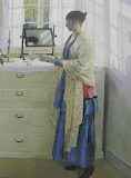 The Blue Gown by Harold Harvey 1917
