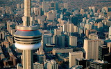 Aerial View of CN Tower Toronto Canada