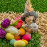 doll, flowers & Easter eggs
