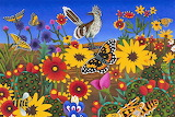 roadrunner with butterflies, Billy Hassell