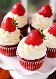 #Strawberry Red Velvet Cupcakes