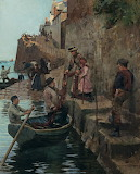 The Slip, Newlyn by Stanhope Forbes 1857-1947