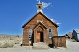 Church In Gold Rush Ghost Town of Bodie California USA