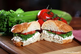 ^ Chicken salad sandwich