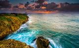 Coast-sunset-waves-ocean-Hawaii