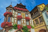 Half-timbered houses-Kaysersberg-Alsace-France