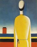 Malevitch, Homme en chemise jaune, 1930