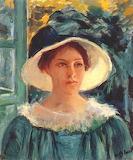 Mary Cassatt, Jeune femme en vert, 1914