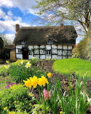 ^ Beautiful thatched Cottage & Garden in the Village of Eckingto