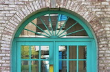 Russell Sage College - turquoise arch of the French House