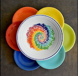 ^ Tied and Dyed plate - Fiesta