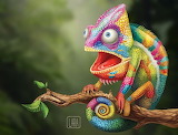 Chameleon Lizard by Lara