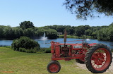 Farmall Tractor by the lake