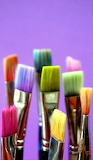 Make-up brushes with rainbow colors