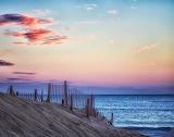 Beach Fence Sunset Nags Head North Carolina