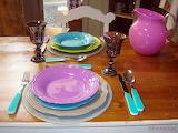 ^ Fiestaware table setting